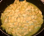 Ginger Curried Pineapple Chicken on Stove